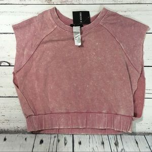 Forever 21 mauve crop athletic sleeveless top NWT